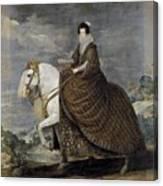 La Reina Isabel De Borbn A Caballo Diego Rodriguez De Silva Y Velazquez Canvas Print