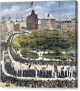 Labor Day Parade, 1882 Canvas Print