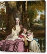 Lady Elizabeth Delme And Her Children Canvas Print