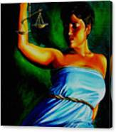 Lady Justice Canvas Print