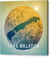 Lake Balaton 3d Little Planet 360-degree Sphere Panorama Canvas Print