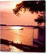 Lake Chicot Sunset Canvas Print