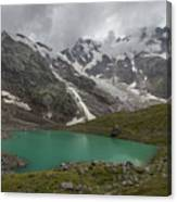 Lake Locce And Monte Rosa - Piedmont / Italy Canvas Print