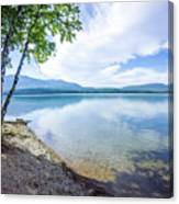 Lake Mcdonald In Glacier National Park Montanaa Canvas Print