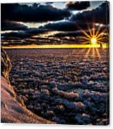 Lake Mi Sunset 8 Canvas Print