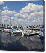Lake Monroe At The Port Of Sanford Florida Canvas Print