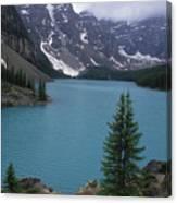 Lake Moraine In Canada Canvas Print