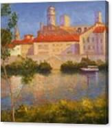 Landscape At Arles France Canvas Print