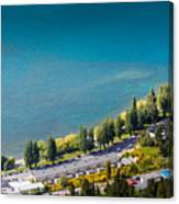Landscape Of Lake In The South Island, Queenstown New Zealand  Canvas Print