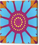 Landscape Purple Back And Abstract Orange And Blue Star Canvas Print