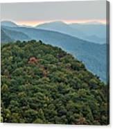 Landscape View At Cedar Mountain Overlook Canvas Print