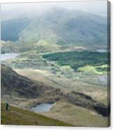 Landscape View Of Llyn Cwellyn And Moel Cynghorion In Snowdonia  Canvas Print