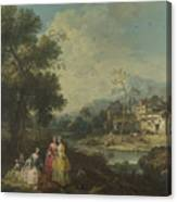 Landscape With A Group Of Figures Canvas Print