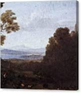 Landscape With Apollo And Mercury  Canvas Print