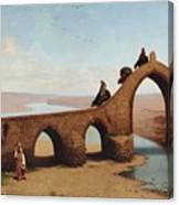 Landscape With Bridge Canvas Print