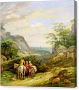 Landscape With Figures And Cattle Canvas Print