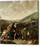 Landscape With Jacob And Rachel Canvas Print