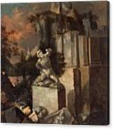 Landscape With Ruins Canvas Print