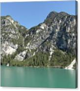 Largo Di Braies, Dolomites, Italy Canvas Print