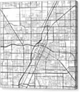 Las Vegas Nevada Usa Light Map Canvas Print