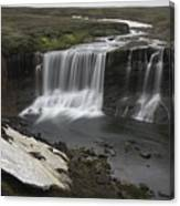 Laugafell Mountain Lodge Waterfalls 3133 Canvas Print