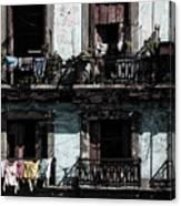 Laundry Day In Havana Canvas Print