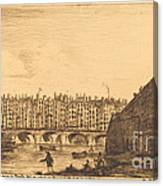 Le Pont-au-change, Paris, Vers 1784 Canvas Print