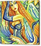 Fairy Leda And The Swan Canvas Print