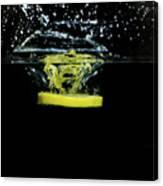 Lemon Dropped Into Water  Canvas Print