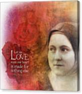 Let Us Love II Canvas Print