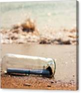 Letter In A Bottle Canvas Print