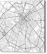 Lexington Kentucky Usa Light Map Canvas Print