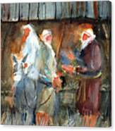 Liberty - At The Manger Canvas Print