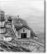 Lighthouse On The Point Canvas Print