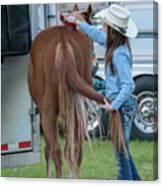 Lil' Cowgirl Canvas Print