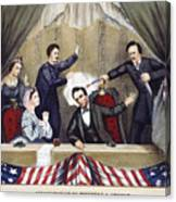 Lincoln Assassination Canvas Print