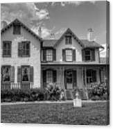 Lincoln Cottage In Black And White Canvas Print
