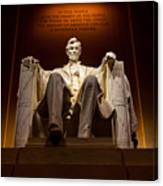 Lincoln Memorial At Night - Washington D.c. Canvas Print