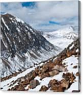 Lincoln Peak Winter Landscape Canvas Print