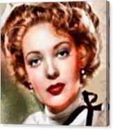 Linda Darnell, Vintage Hollywood Actress Canvas Print