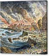 Lisbon Earthquake, 1755 Canvas Print