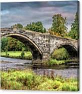 Llanrwst Bridge And Tea Room Canvas Print