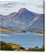 Loch Arklet And The Arrochar Alps Canvas Print