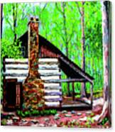 Log Cabin V Canvas Print