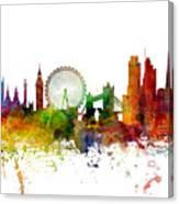 London England Skyline Panoramic Canvas Print