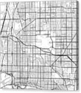 Long Beach California Usa Light Map Canvas Print