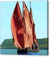 Looe Lugger 'our Daddy' Canvas Print