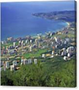 Looking Over Jounieh Bay From Harissa Canvas Print