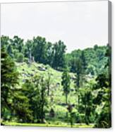Looking Up At Little Round Top Canvas Print