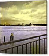 Looking West From The East River Canvas Print